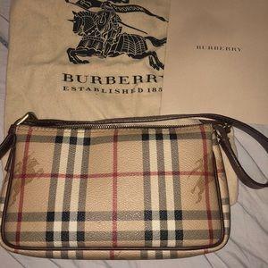 Burberry haymarket check mini shoulder bag